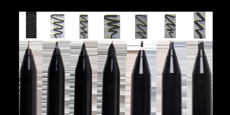 Pigma Professional Brush Sizes